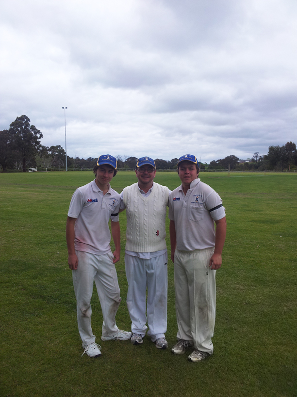Lachlan, Neil and Troy Smith make history for the club as the first-ever Father/Sons combination in F Grade on the weekend.