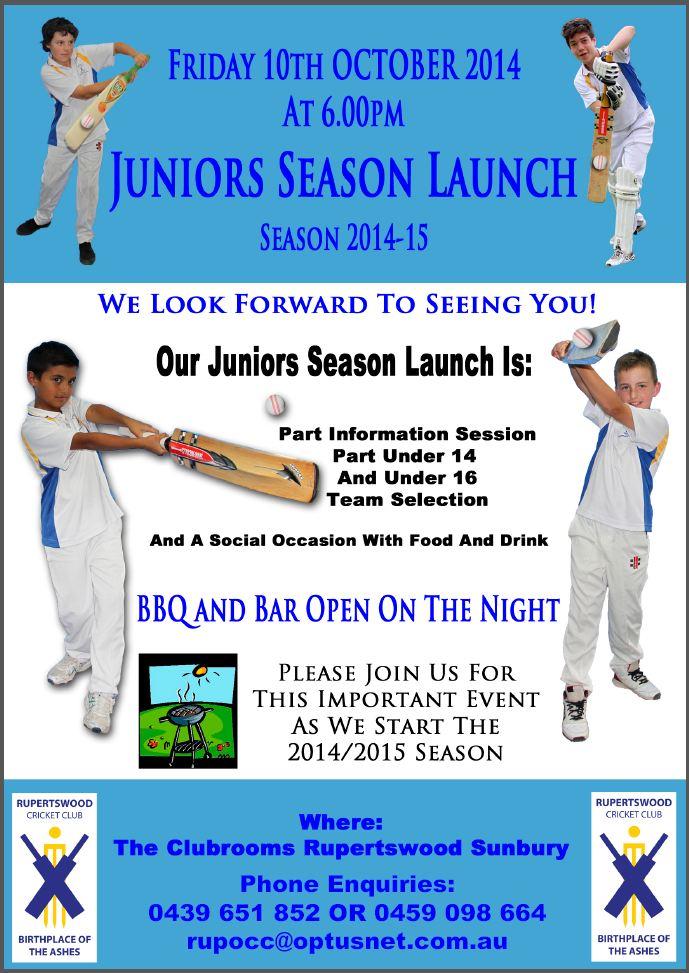 Junior Season Launch 201415