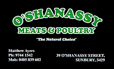 O'Shannassy Meats & Poultry